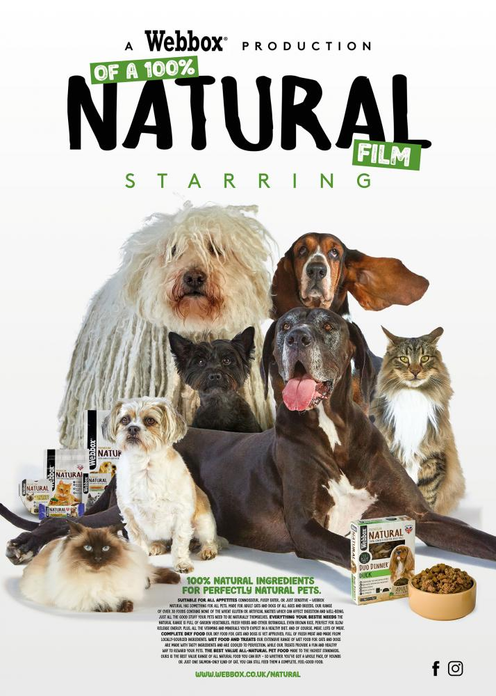 Webbox Natural, what my dog eats, Campaign