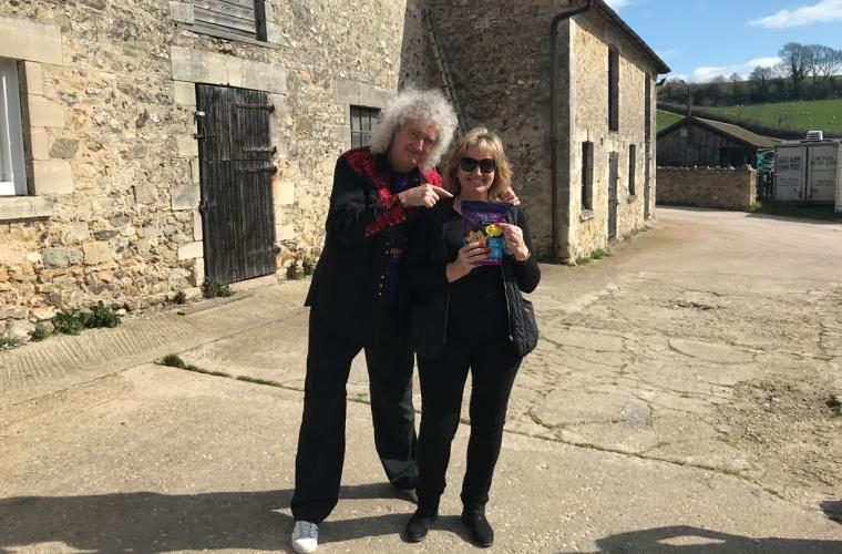 Brian May and Anne Brummer celebrate partnership
